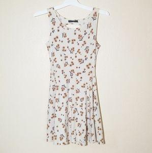 Brandy Melville Sunflower Print Fit Flare Dress